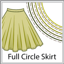 circle skirt sewing patterns