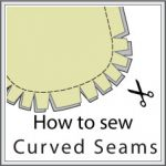 Curved seams sewing techniques