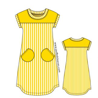 Jersey sumer dress pattern