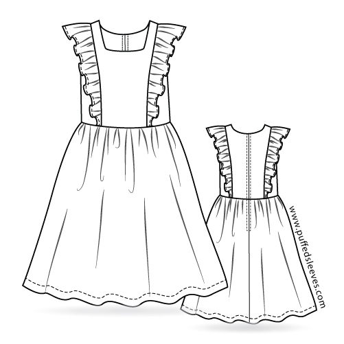 Dress with a frilly top sewing instructions