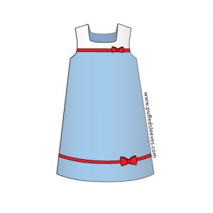 Child tunic with bows