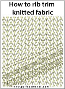 how to rib trim knitted fabrics