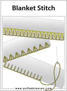 blanket stitch variations