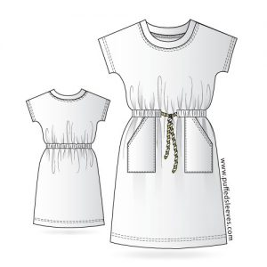 Casual-T-Shirt-Dress pattern