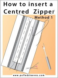 centered zipper sewing tutorial