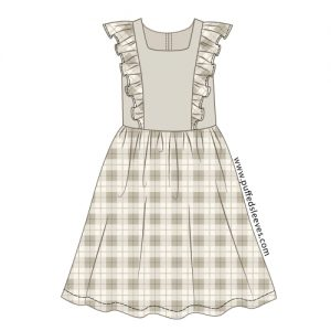 Dress with a frills