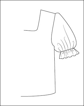 How to draft puffed sleeves