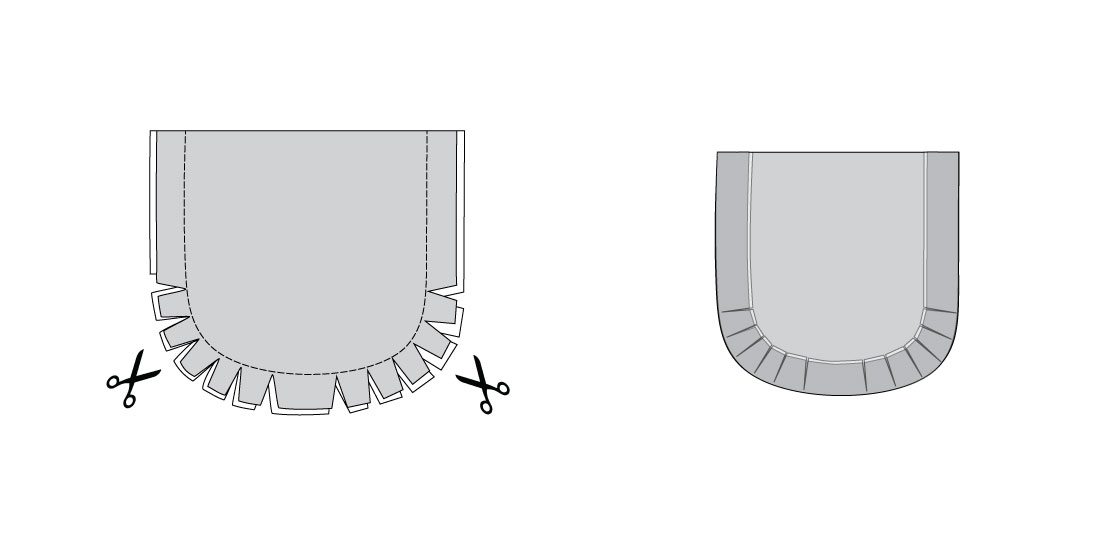 How to make curved seams