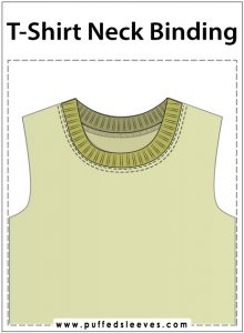 Sewing t-shirt neck binding