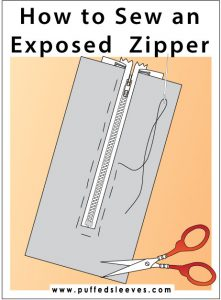 Sewing exposed zipper instructions