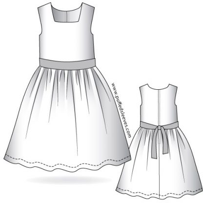 Dress with a sash pattern downlod