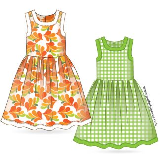 Dress with bright trim PDF pattern