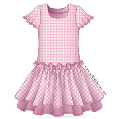 Drop waist gingham dress