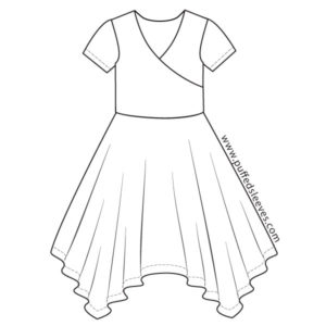 Wrapup dress with square skirt sewing patterns
