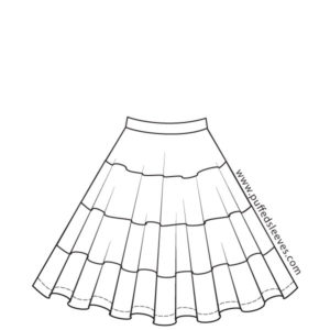 Circle-skirt with Colourful Bands