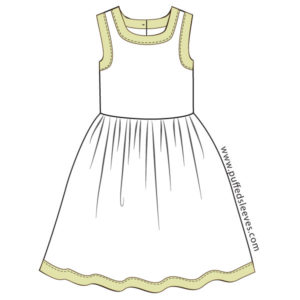 Dress-with-contrasting-trim