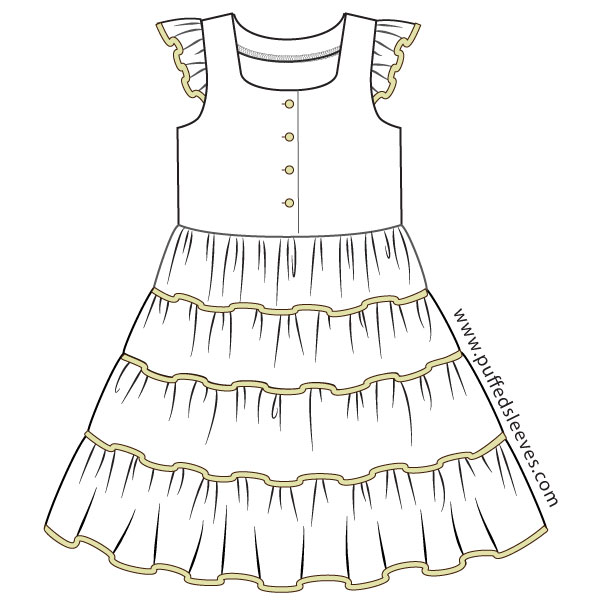 Summer-dress-with-four-tiered-skirt
