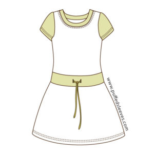T-Shirt-dress-in-contrasting-colours