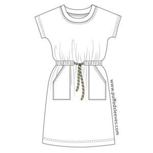 Casual-T-Shirt-Dress-with-Pockets-and-Drawstring-Waist